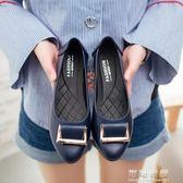秋季媽媽鞋單鞋軟底舒適中老年平底女鞋防滑老人休閒皮鞋女工作鞋 可可鞋櫃
