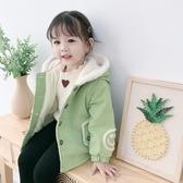 兒童外套 女童加絨外套2019新款秋冬季小童加厚兒童女寶寶冬裝棉衣洋氣公主