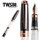 台灣三文堂 TWSBI 鋼筆 鑽石 580透黑玫瑰金 II /B(*加贈不織布筆套)
