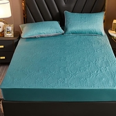 床罩 防水加厚夾棉床笠單件隔尿床罩床單防滑固定1.8m席夢思床墊保護套【快速出貨】