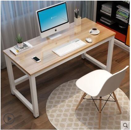 台式電腦桌家用電競桌臥室簡易書桌寫字台桌子簡約現代辦公桌CY 酷男精品館