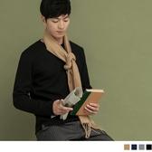 《ZB0756》男用親膚舒適素色流蘇圍巾 OrangeBear