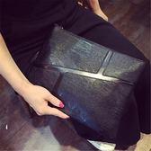 韓版時尚復古信封包百搭簡約休閒手拿包大容量女包【非凡上品】h531