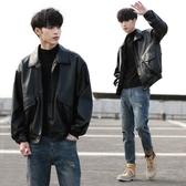 熱銷夾克韓版潮流寬鬆皮衣男短款機車服青年學生飛行員皮夾克秋冬外套潮牌