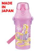 BabyPark 迪士尼長髮公主 魔髮奇緣 日本製單手彈蓋直飲水壺480ml 飲料壺 隨手杯