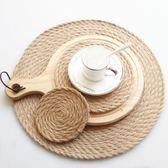 初見日式素色隔熱墊餐桌墊餐盤墊天然亞麻杯