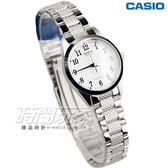 CASIO卡西歐 LTP-1274D-7B 數字時標自信魅力時尚典雅淑女腕錶 白x銀 LTP-1274D-7BDF
