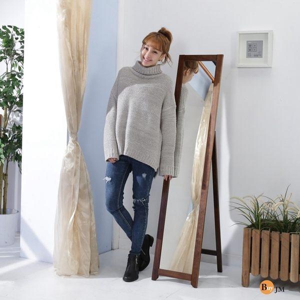 工業風 鐵力士《百嘉美》典雅實木穿衣鏡/立鏡(高153公分) 櫥櫃