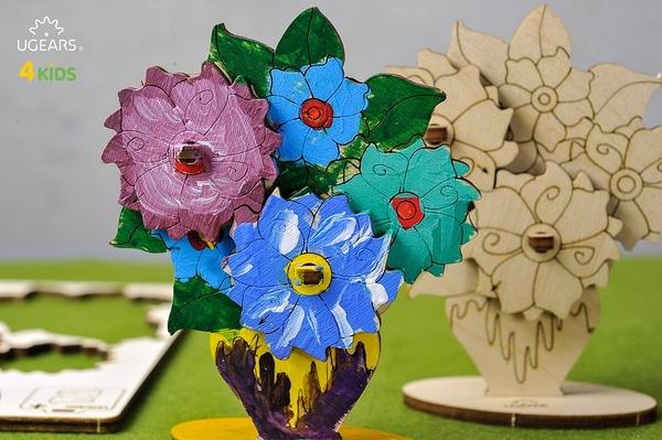 UGEARS 著色小花兒 Bouquet