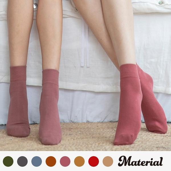 中長襪 飽和色系中長襪(4入一盒) MA女鞋 K2029