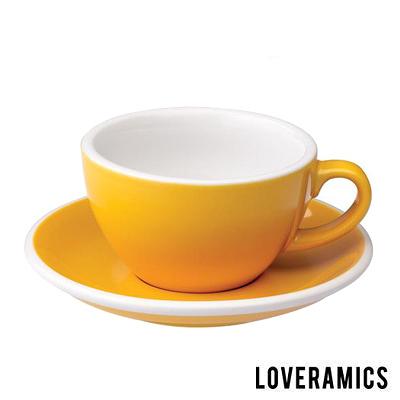 【LOVERAMICS 愛陶樂 】Egg 拿鐵咖啡杯盤組 200ml Yellow 黃色