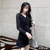 連身裙.法式復古裙山本超仙赫本小黑裙很仙的法國小眾連身裙..花戀小鋪