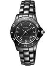 Diadem 黛亞登 菱格紋雅緻陶瓷腕錶-黑 8D1407-551D-D