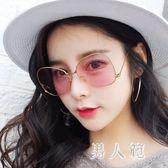 墨鏡女潮眼鏡新款圓形個性太陽鏡女士圓臉韓版復古眼睛 zm4525『男人範』