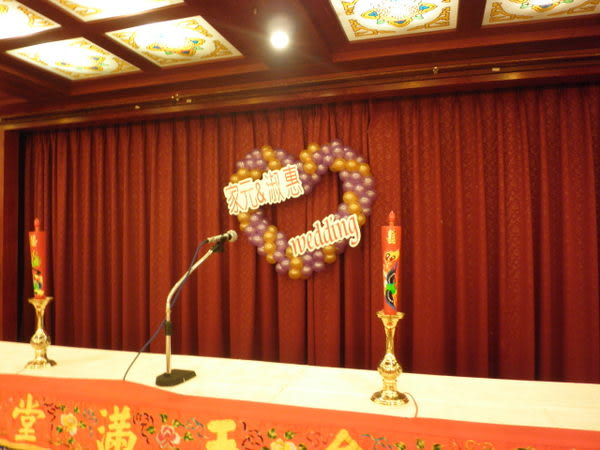 情意花坊網路花店~婚禮會場鮮花佈置包套優惠網友價只要8888元(台北圓山飯店)