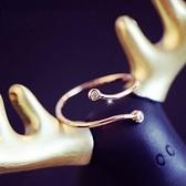 戒指 玫瑰金 鑲鑽-優雅百搭生日情人節禮物女開口戒73dv16【時尚巴黎】