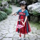 洋裝 漢服女童中國風兒童齊胸襦裙夏小女孩超仙古裝寶寶洋裝連衣裙親子套裝 快速出貨