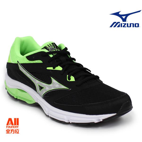 【Mizuno美津濃】男款慢跑鞋 WAVE SURGE -黑草綠 (J1GC171303)全方位跑步概念館