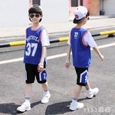 男童夏裝短袖套裝2020新款洋氣夏季運動中大童男孩夏款帥氣韓版潮 OO6015【VIKI菈菈】