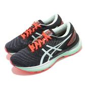 Asics 慢跑鞋 Gel-Nimbus 22 黑 綠 女鞋 高緩衝 運動鞋 【ACS】 1012A587003