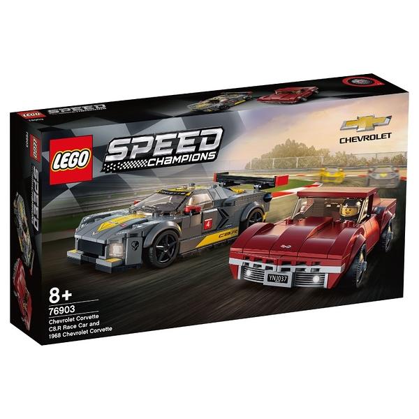 LEGO樂高 76903 Chevrolet Corvette C8.R Race Car and 1968 Chevr