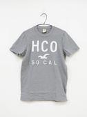 【Hollister】男款短袖純棉T恤 - 灰/L