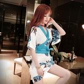 直播主播服裝女氣質復古花色性感交叉V領收腰顯瘦包臀和服連身裙 【ifashion·全店免運】