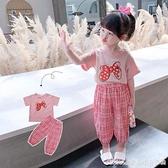 女童夏裝套裝2021新款洋氣童裝兒童時髦小童夏季小女孩兩件套 快速出貨