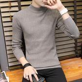 高領毛衣男士韓版潮流針織衫修身型保暖線衣服百搭帥氣打底衫 樂芙美鞋