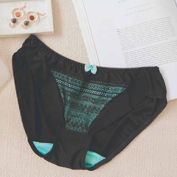 MUMU《B12108-2》魅惑綠寶石。舒適柔滑蕾絲內褲。台灣製