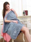 浴巾可穿純棉柔軟超強吸水抹胸女性感加大號成人可裹浴裙 聖誕裝飾8折