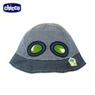 chicco-飛行浣熊-眼鏡造型條紋帽