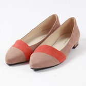 ~ORiental TRaffic ~舒適尖炫撞色低跟鞋優雅米