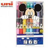 三菱 Uni-ball RE0.38摩樂筆八色組 摩擦筆 Disney 90周年限定版 【金玉堂文具】