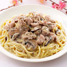 香蒜野菇義大利麵套餐(附60元飲品)...