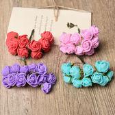 【BlueCat】DIY仿真玫瑰花裝飾假花 胸花 卡片布置 (12朵)
