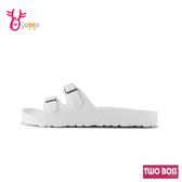 TWO BOSS拖鞋 女拖鞋 防水拖鞋 休閒拖鞋 可調整 MIT台灣製 H5983#白色◆OSOME奧森鞋業