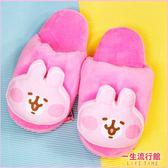 《現貨》卡娜赫拉 兔兔 P助 正版 大臉 保暖室內 絨毛拖鞋 女鞋 兒童 拖鞋 B21638