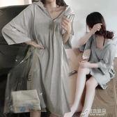 孕婦春裝夏裝上衣新款韓版中長款孕婦連衣裙時尚短袖夏天裙子 原本良品