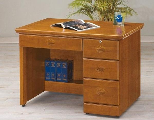 【新北大】S662-2 萬字樟木3.5尺書桌/辦公桌-2019購