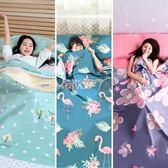 睡袋 旅行隔臟睡袋成人室內旅游純棉便攜雙人酒店防臟賓館薄款戶外床單  數碼人生