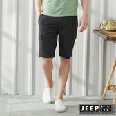 【JEEP】經典修身雙口袋休閒短褲-鐵灰