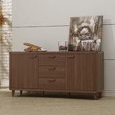 木紋北歐5.3尺餐櫃 餐邊櫃 廚房收納櫃 玄關櫃 碗碟櫃 YD米恩居家生活