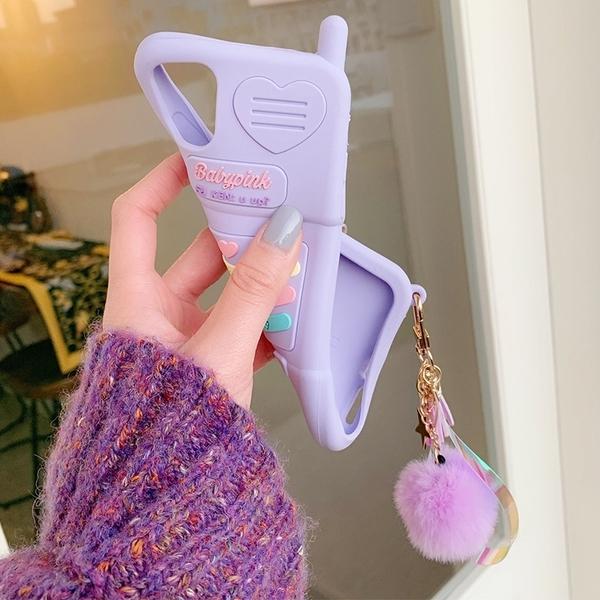 紫色電話OPPO Reno5 Pro手機套 可愛全包毆珀保護套 毆珀Reno5 Pro保護殼 創意卡通oppo Reno 5手機殼