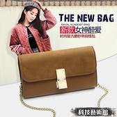 手拿包 包包女包2021新款百搭鍊條小方包單肩斜跨包小包手拿包錢包 交換禮物