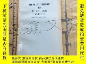 二手書博民逛書店Human罕見Error in Computer Systems
