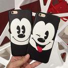 黑白米奇簡約風蠶絲紋 蘋果iphone7 7plus/i6/6p軟膠手機殼