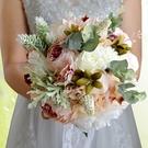 森系新娘手捧花球