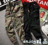 【618好康又一發】工裝褲 褲子男休閒褲寬鬆迷彩褲