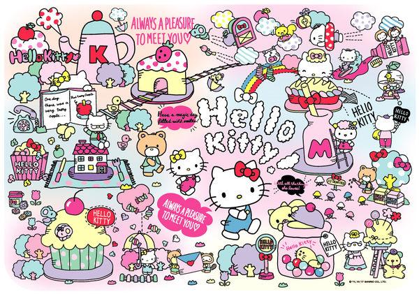 【拼圖總動員 PUZZLE STORY】KITTY世界 PuzzleStory/Hello Kitty/96P/兒童/紙板